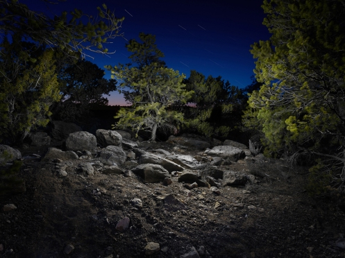 "Santa Fe Ridge - From the series ""Night"""