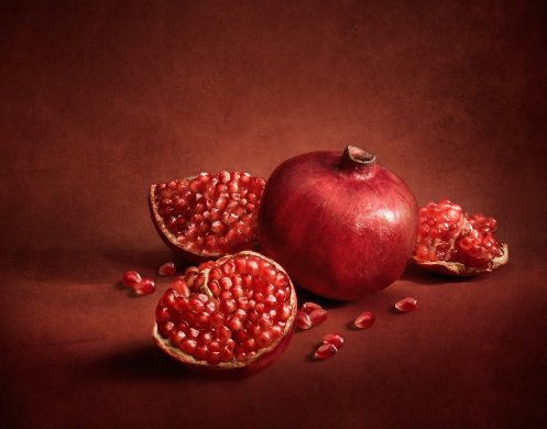 Still Life photograph of Pomegranate