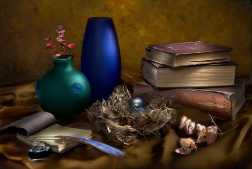 Harold Ross's student Ruth Feldman's Light Painting Still Life