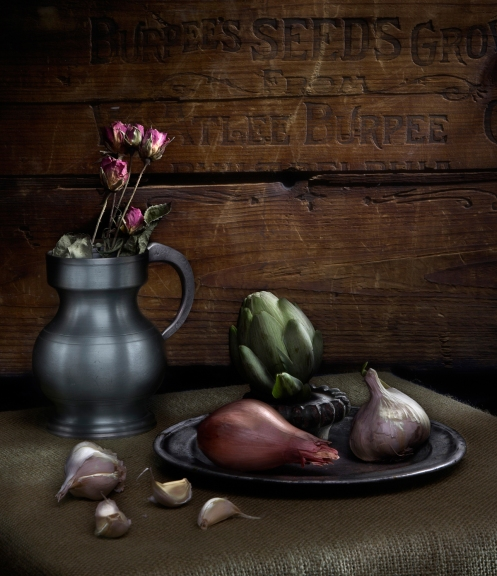 Harold Ross's Light Painting Student Bill Earle's Still Life