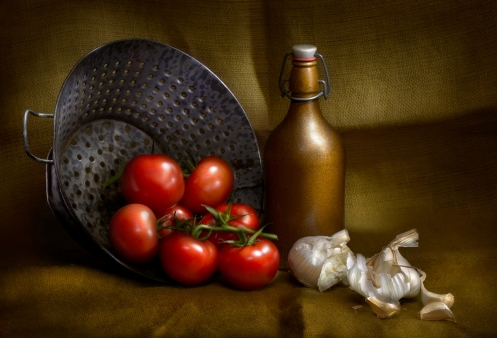 Harold Ross's student, Dennis Littley's light painted still life image