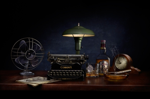 Photographer Harold Ross's student Sonia's light painted still life