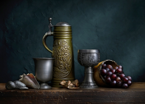 "Photographer Harold Ross's light painted image ""Still Life with Green Stein"""