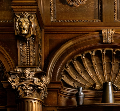Harold Ross's light painted image of the Biltmore Banquet Hall Niche (detail)