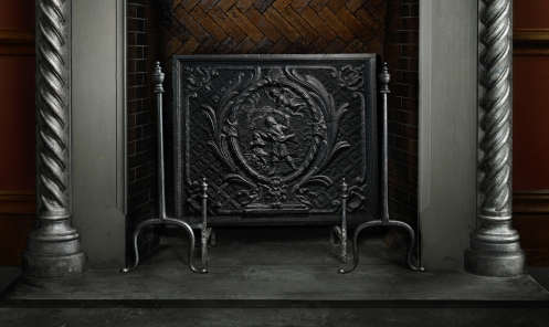 Harold Ross's light painted photograph of the Biltmore Family Fireplace detail 2