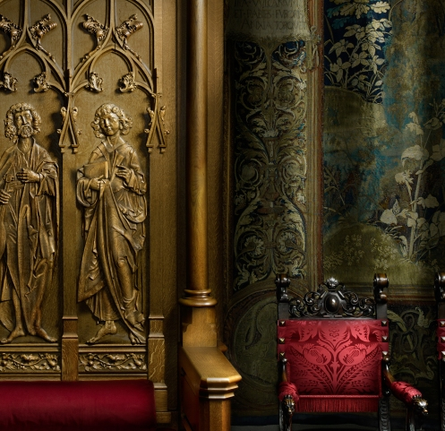 Harold Ross's light painted image of the Banquet Hall Throne (detail)