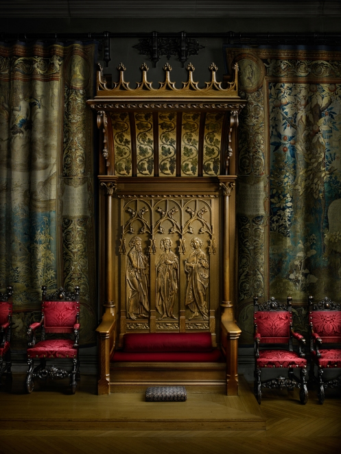 Harold Ross Light Paints the Biltmore Dining Hall Throne