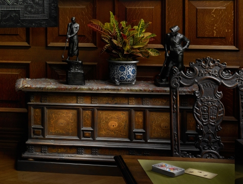 Biltmore Oak Sitting Room Credenza detail