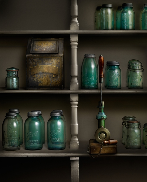 The Canning Pantry, Light painted photograph at the Biltmore House by Harold Ross