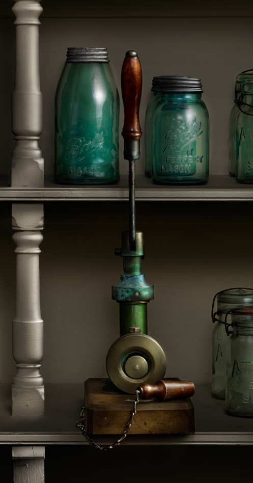 The Lid Press in the Canning Pantry, Light painted photograph at the Biltmore House