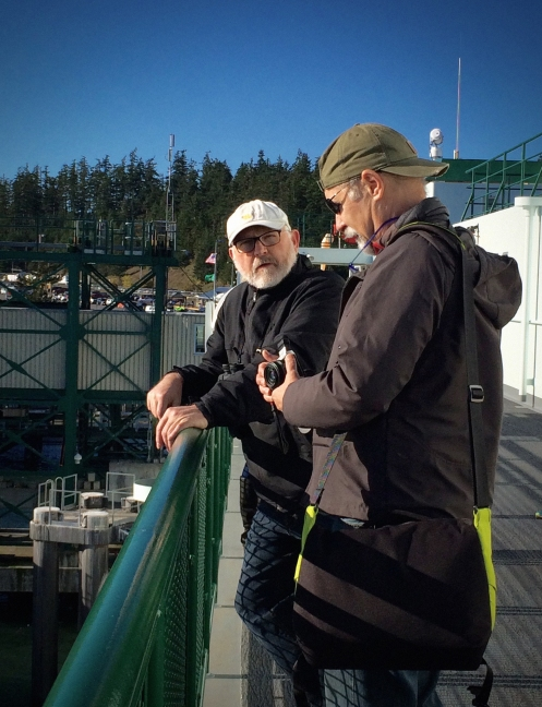 David G. Best and Harold Ross on the ferry to the San Juan Islands