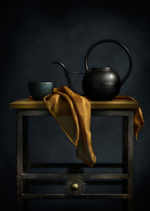 Photographer Harold Ross' Still Life With Teapot And Table