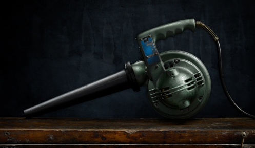 "Photographer Harold Ross' light painted image ""Vintage Industrial Blower"""