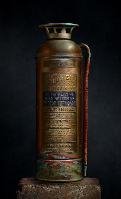 "Harold Ross's Light Painted Image ""Vintage Fire Extinguisher"""