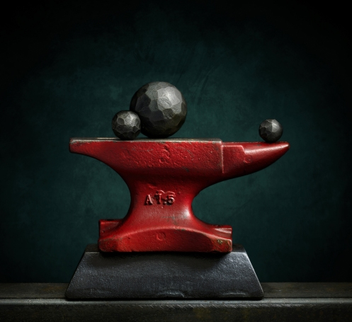 "Photographer Harold Ross' Light Painted Image ""Red Anvil"""