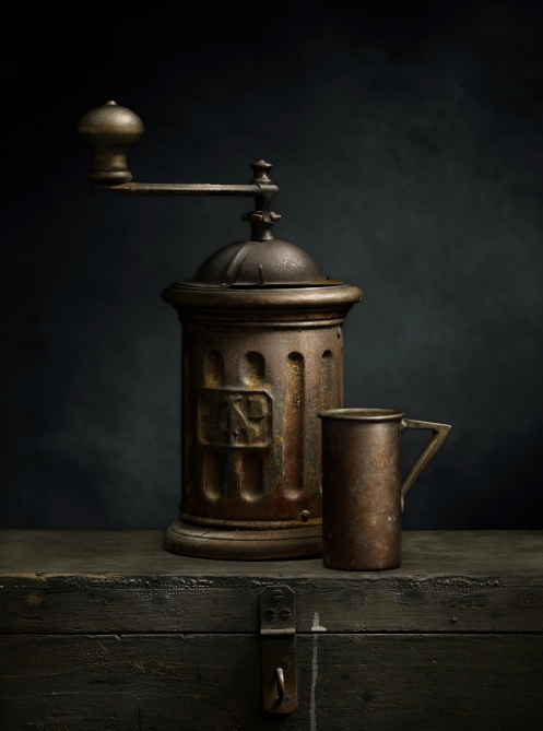 Photographer Harold Ross' Light Painted Image, Italian Coffee Grinder