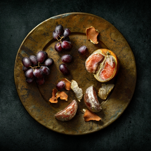 "Light painted image ""Blood Oranges & Grapes"" by light painting photographer Harold Ross"