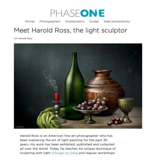 Light Painting Photographer Harold Ross in PhaseOne Stories
