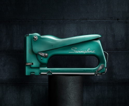Light Painting Photograph of Vintage Swingline Stapler by Photographer Harold Ross