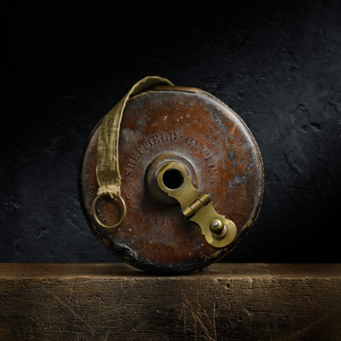 Light Painting Photograph of Vintage Chesterman Sheffield Tape Measure by Photographer Harold Ross