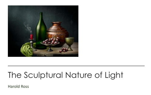 "Medium Format Magazine June 2020 Issue and Photographer Harold Ross's article ""The Sculptural Nature of Light"""
