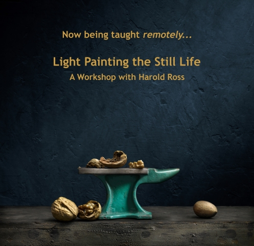 "Light Painting Image ""Green Anvil and Walnuts"" by Photographer Harold Ross"