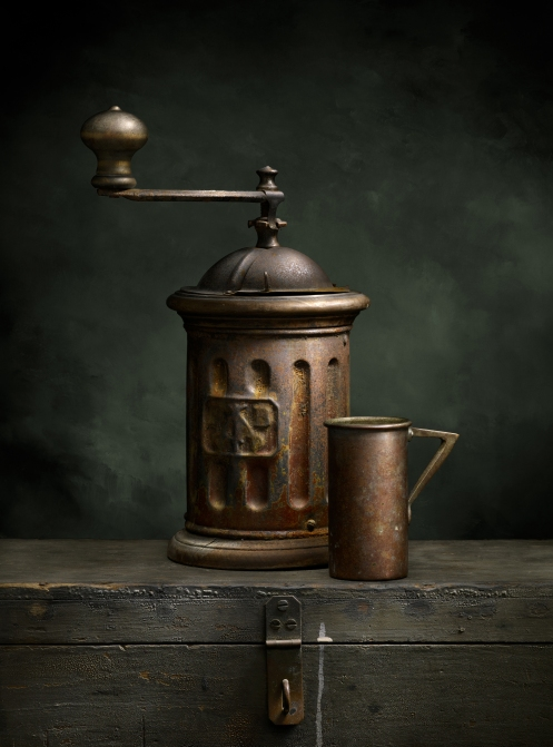 """Light Painted Image """"Italian Coffee Grinder"""" by Photographer Harold Ross"""