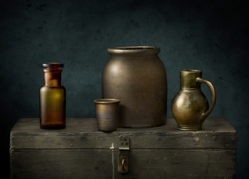 """Light Painted Image """"Still Life with Vessels"""" by Photographer Harold Ross"""