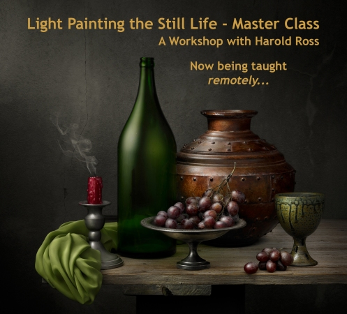 """Light Painted Image """"Still Life with Copper Vessel"""" by Photographer Harold Ross"""