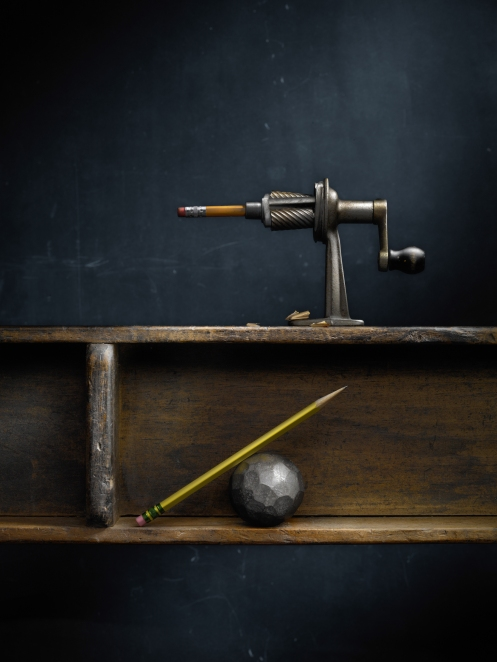 """Light Painted Image """"My Father's Pencil Sharpener"""" by Photographer Harold Ross"""