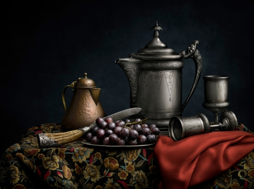 """Light Painted Image """"Still Life with Pitcher"""" by Photographer Harold Ross"""