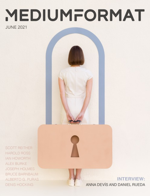 Light Painting Photographer Harold Ross's article in Medium Format Magazine June 2021